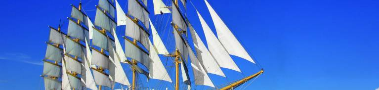 Star Clipper is a four masted barquentine built as a cruise ship, and operated by Star Clippers Ltd of Sweden